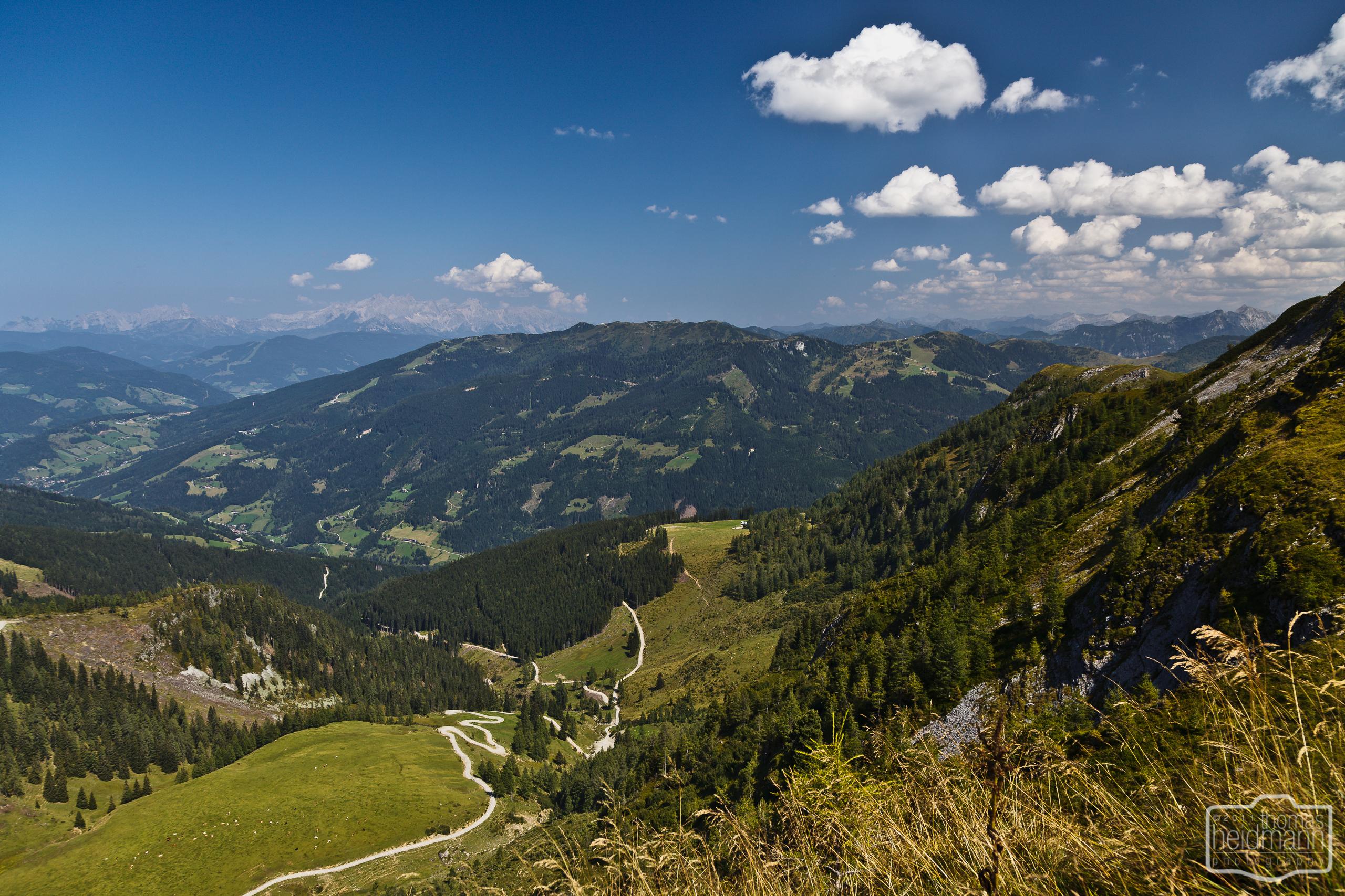 Großarltal. Wanderung zur Maurachalm, Kitzstein (Gabel) (2037m), Karseggalm und Breitenebenalm..