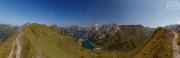 Ausblick vom Gipfelgrat zum Tappenkarsee