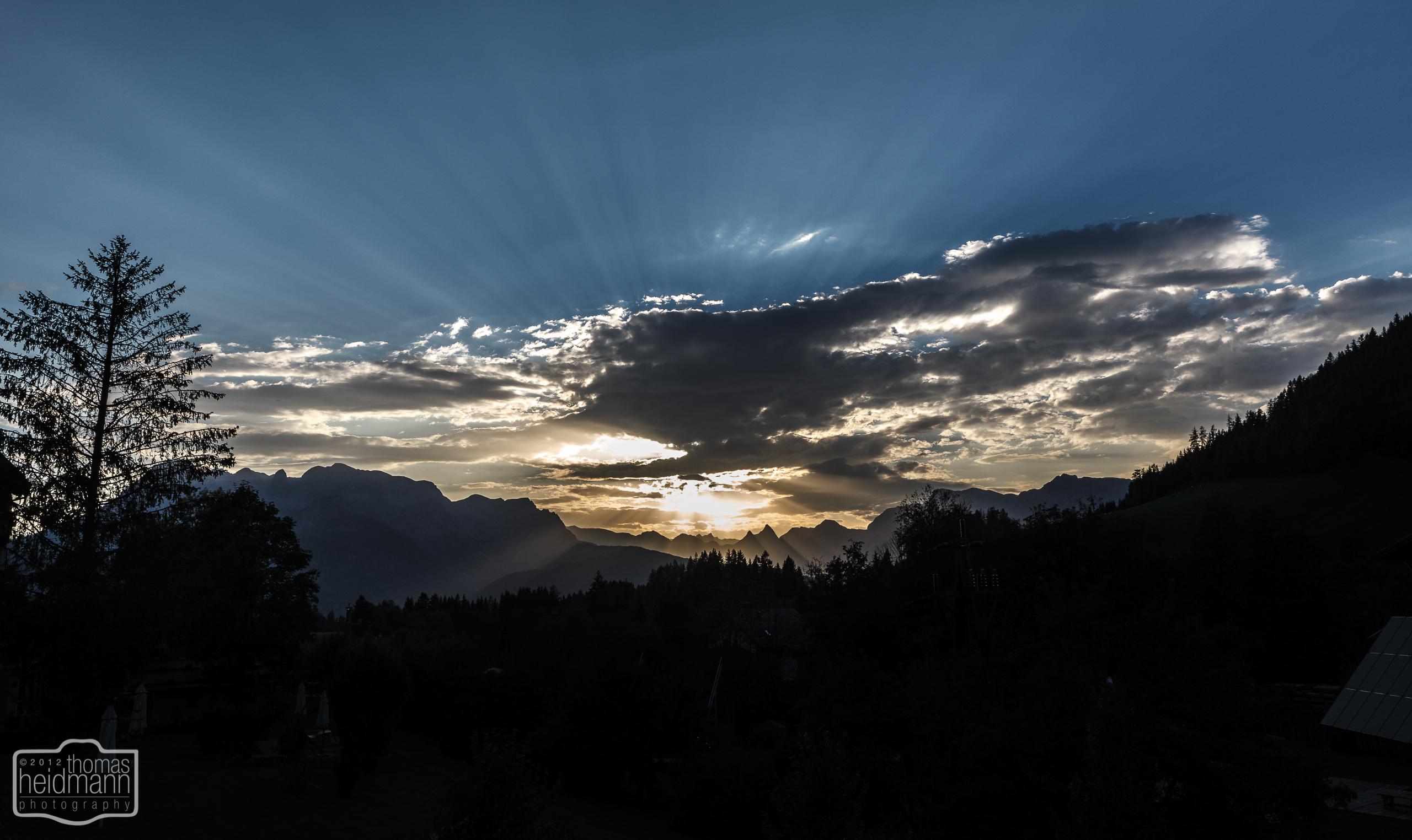 Sonnenuntergang in Werfenweng