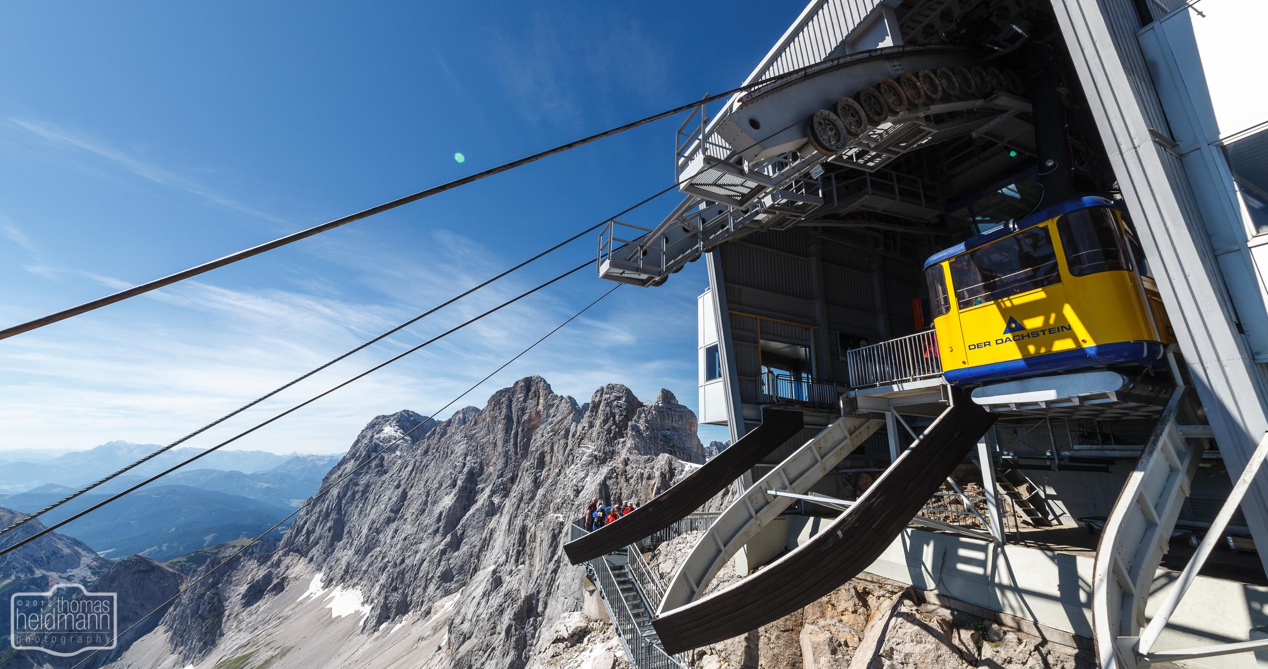Gletscherstation der Seilbahn zum Dachstein