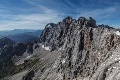 Blick vom Dachstein in die Bergwelt