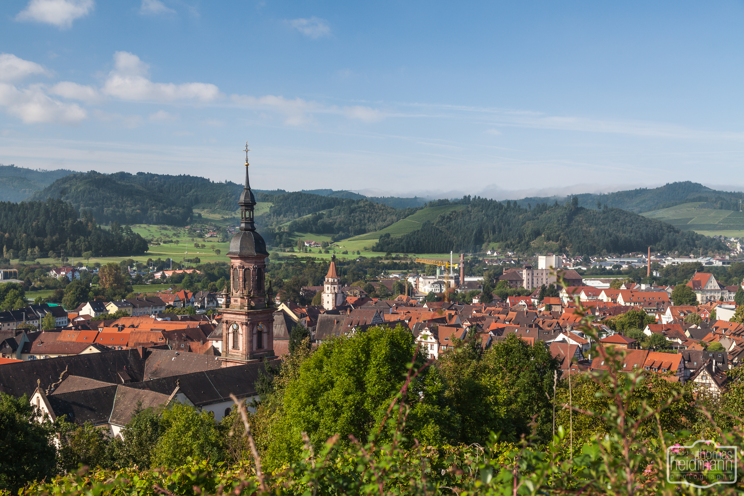 Blick auf Gengenbacher Altstadt