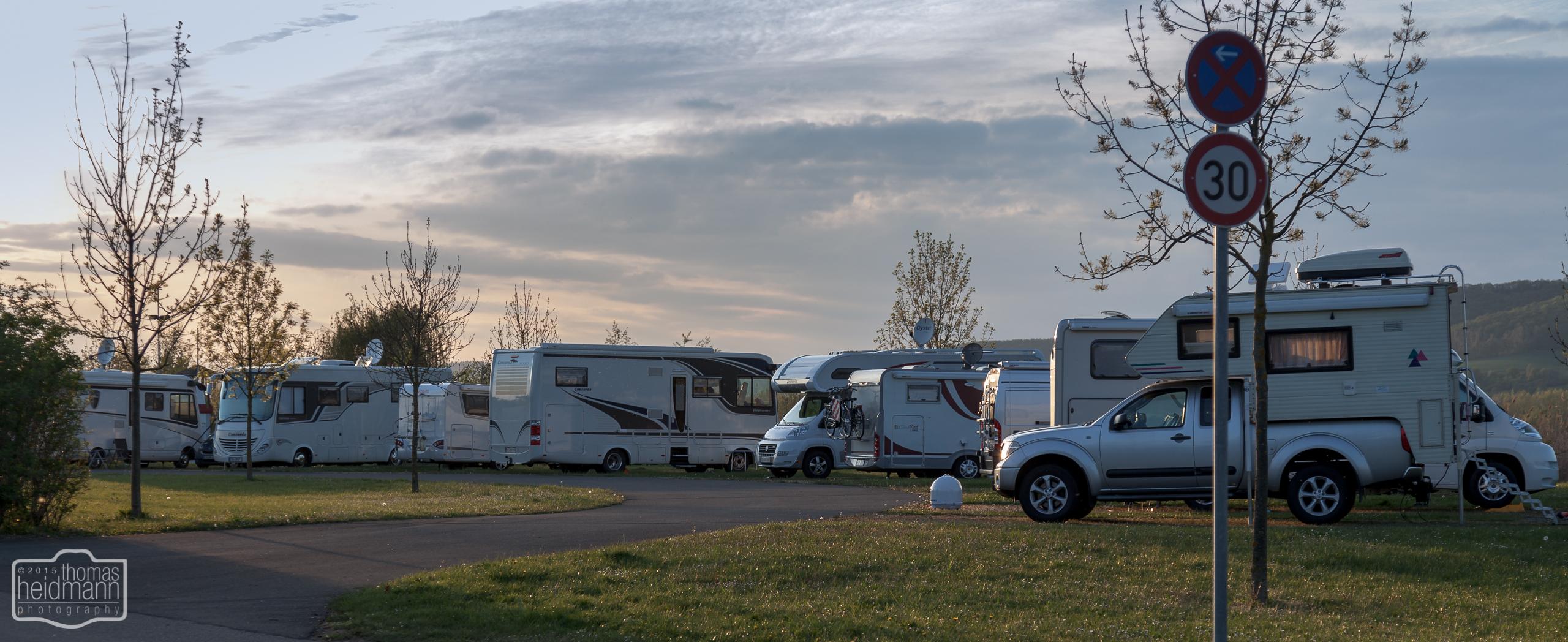 Komfort-Stellplatz auf dem Eschweger Campingplatz von Knaus