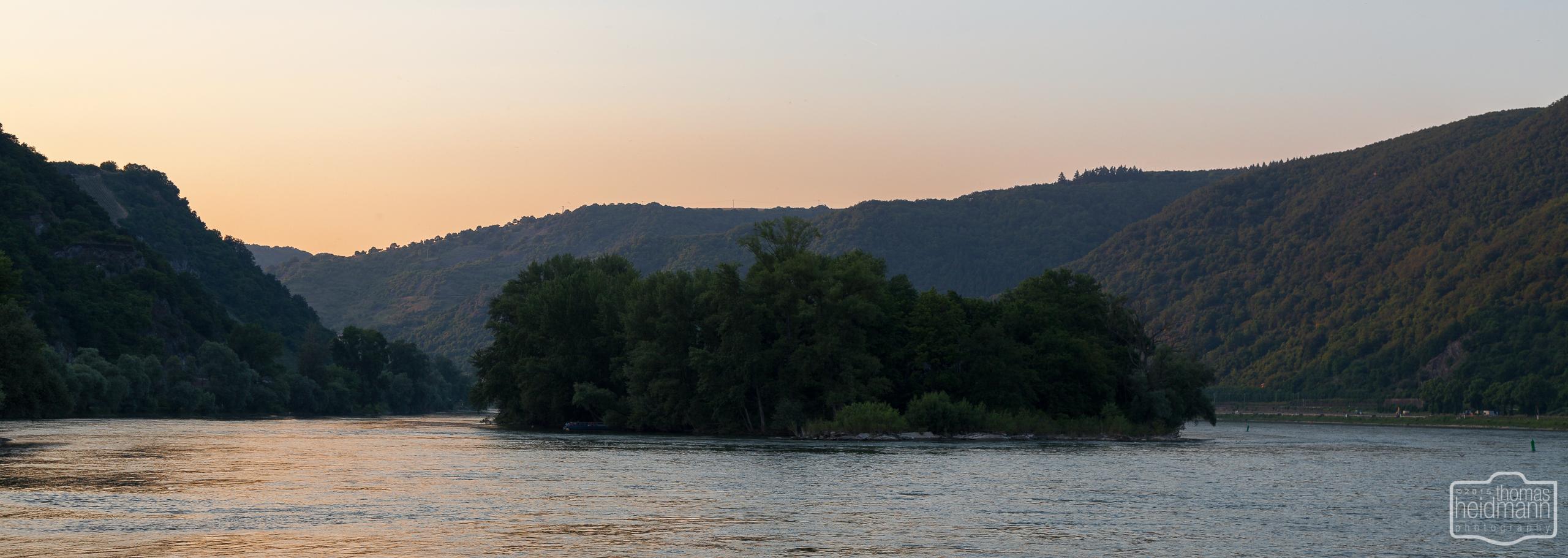 Sonnenuntergang am Mittelrhein