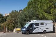 Parkplatz in Magliano (Süd-Toskana)