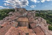 Über den Dächern Sorano´s (Süd-Toskana)