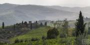 Blick vom Stellplatz in Panzano
