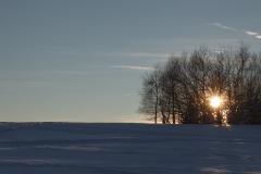 Sonnenuntergang bei Braunlage im Harz