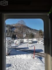 Blick aus der Aufbautür in Balderschwang