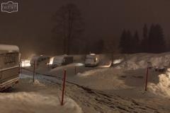 Nachts auf dem Stellplatz in Balderschwang