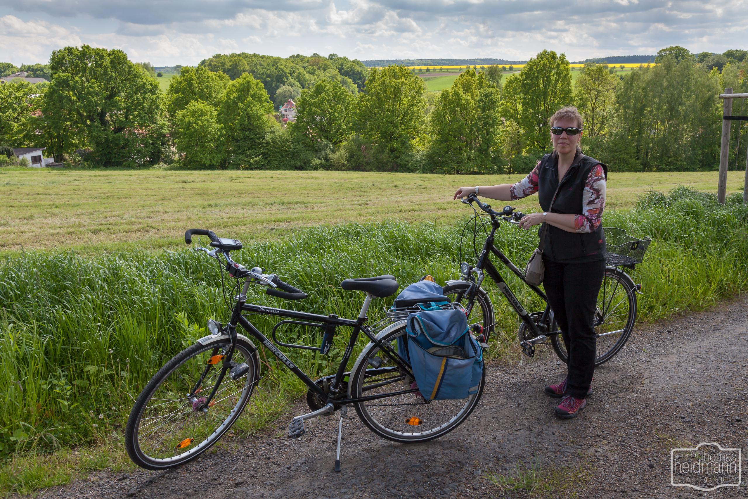 Radtour beim Elbsandsteingebirge
