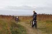 Fahrradtour im Herbst durch die Dünen auf Römö