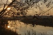 Sonnenuntergang auf dem Stellplatz Dömitz an der Elbe