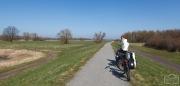 Radtour an der Elbe bei Wittenberge