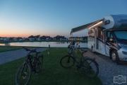 Sonnenuntergang auf dem Stellplatz Rømø-Oasen