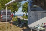 Blick vom Stellplatz Maasholm auf die Schleimündung in die Ostsee
