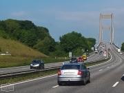 """Brücke """"Den Nye Lillebæltsbro"""" zum Festland bei Snoghøj in der Nähe von Kolding"""