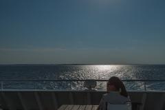 Rückfahrt mit der Syltfähre nach Havneby