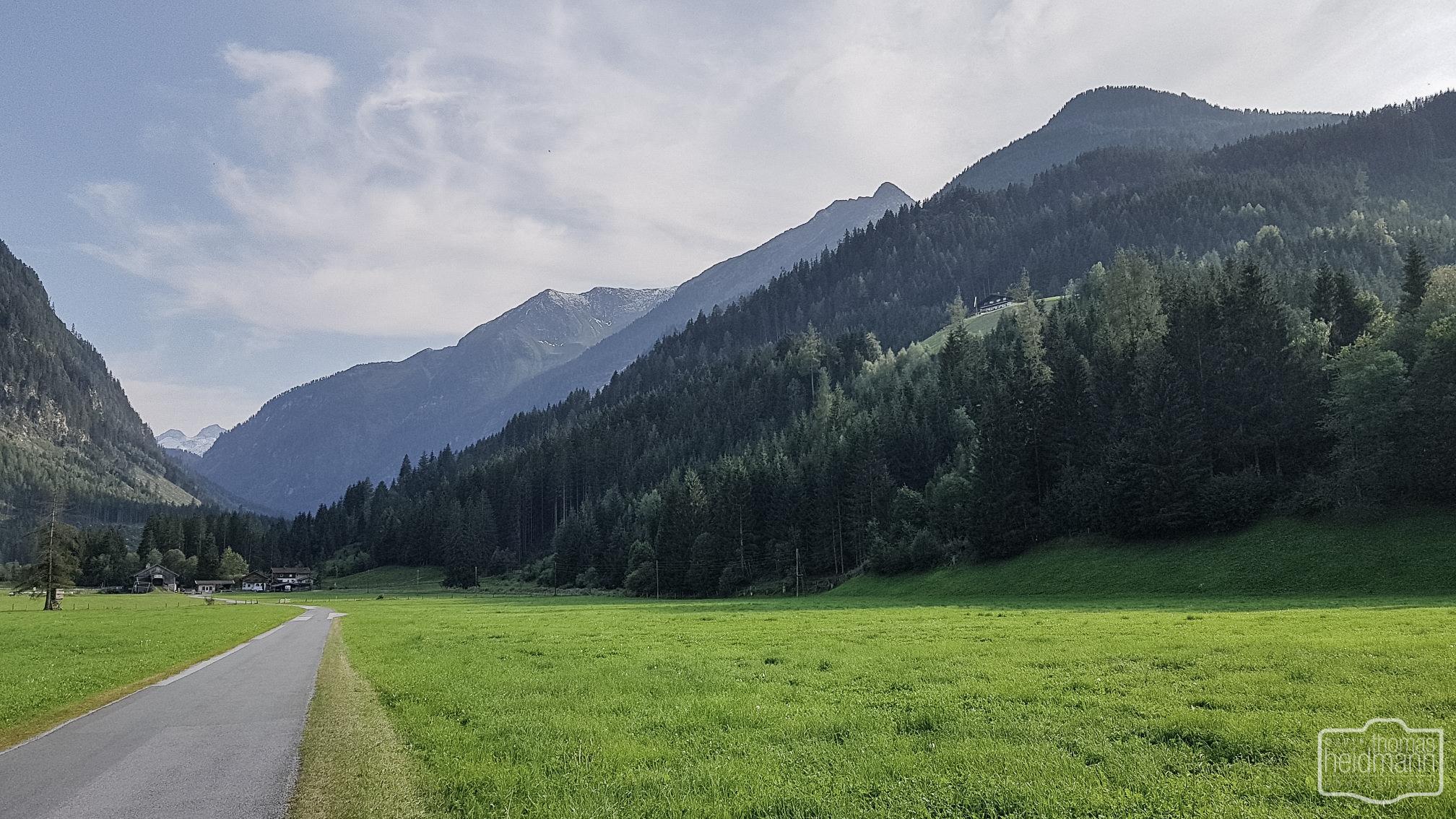 Radtour hinauf zum Wildkogel bei Neukirchen am Großvenediger in Österreich