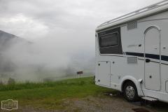 Stellplatz Friedburg - Morgendlicher Nebel auf dem Stellplatz