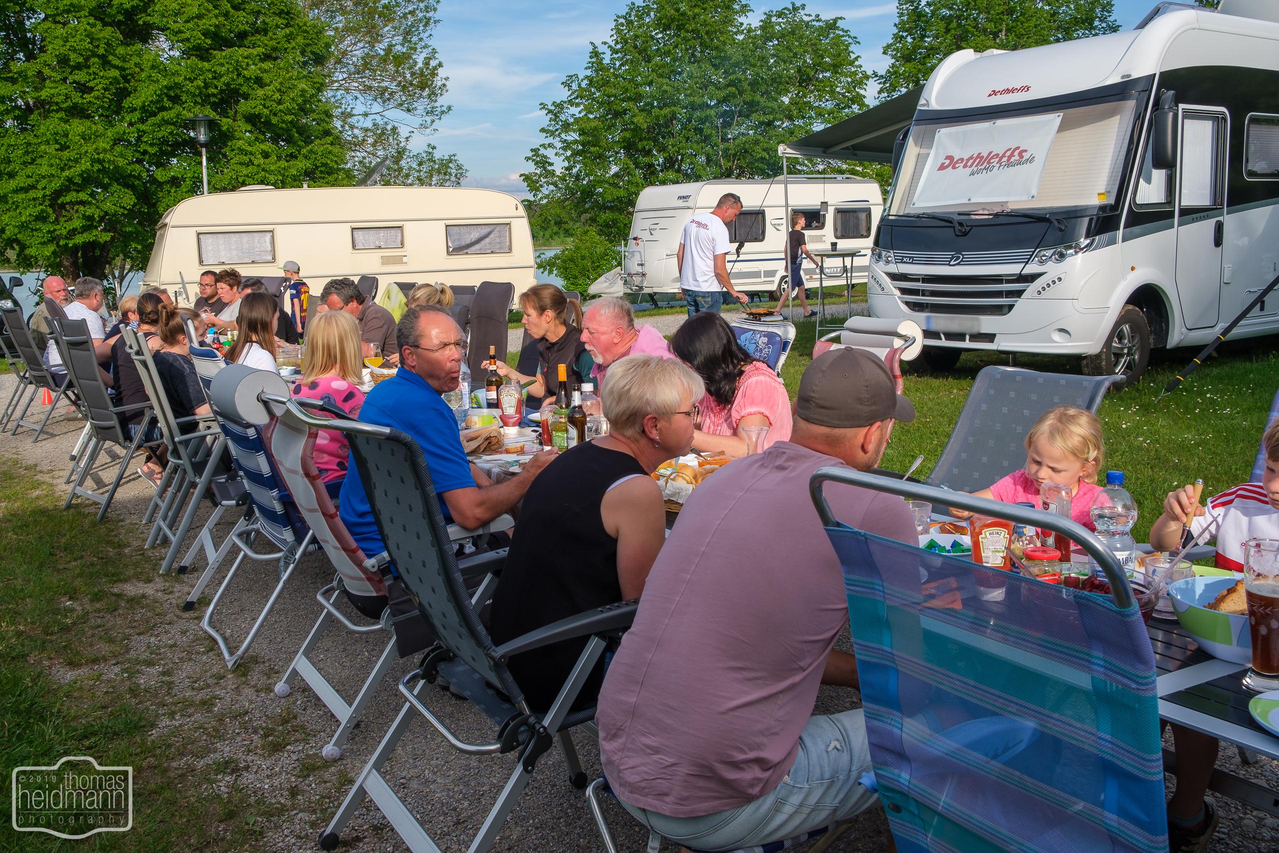 Facebook-Grupentreffen der Dethleffs WoMo Freunde im Sommer 2019 in Lechbruck am See