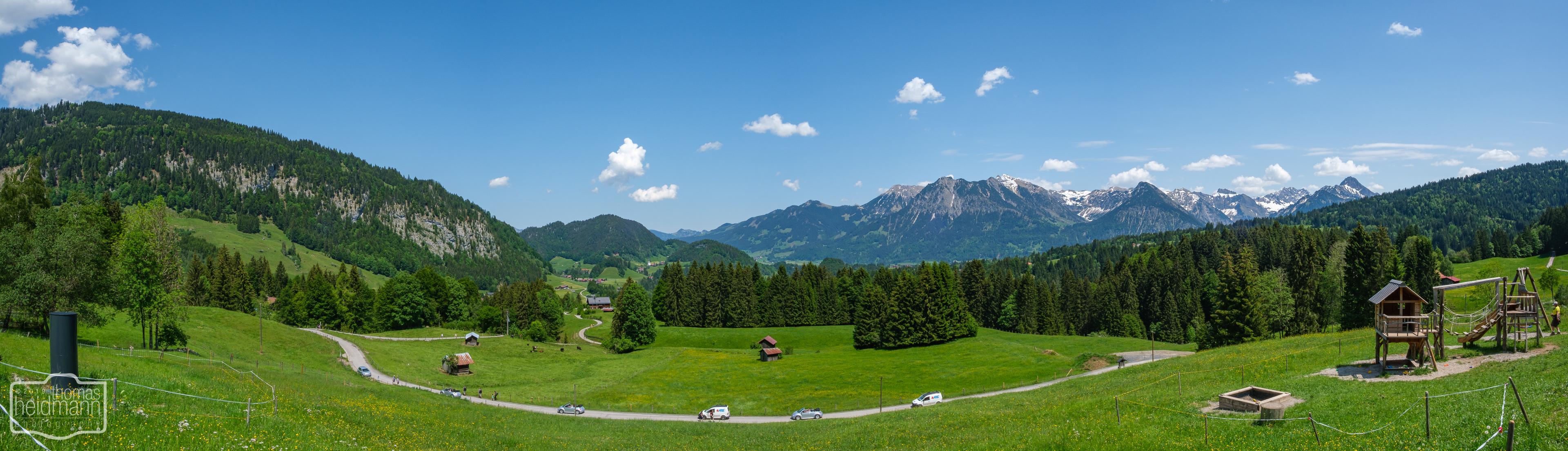 Alpenpanorama bei Oberstdorf