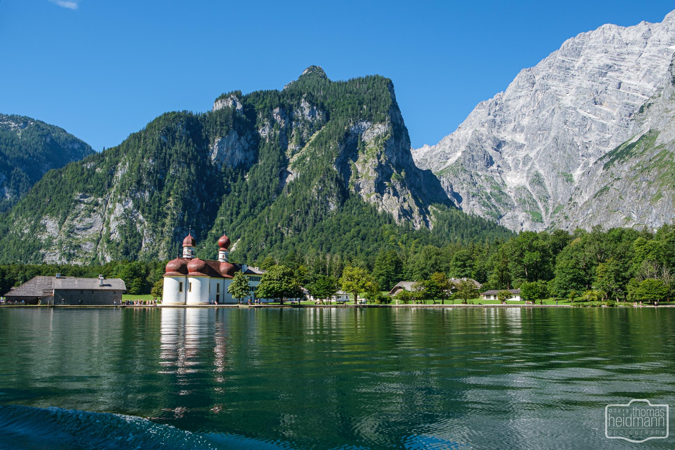 Bootsfahrt auf dem Königssee - Bartholomäuskirche