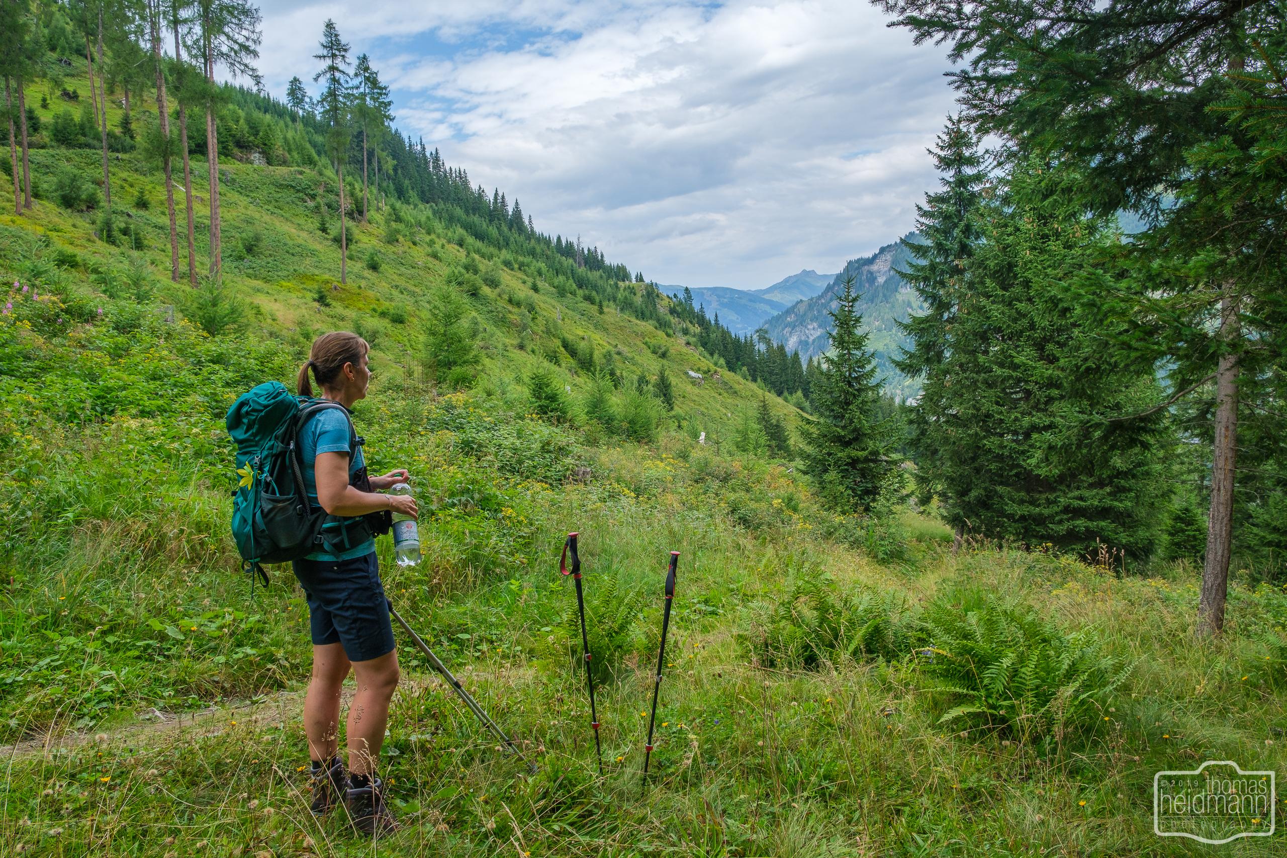 Wanderung zur Hirschgrubenalm und Modereggalm - Wanderpause