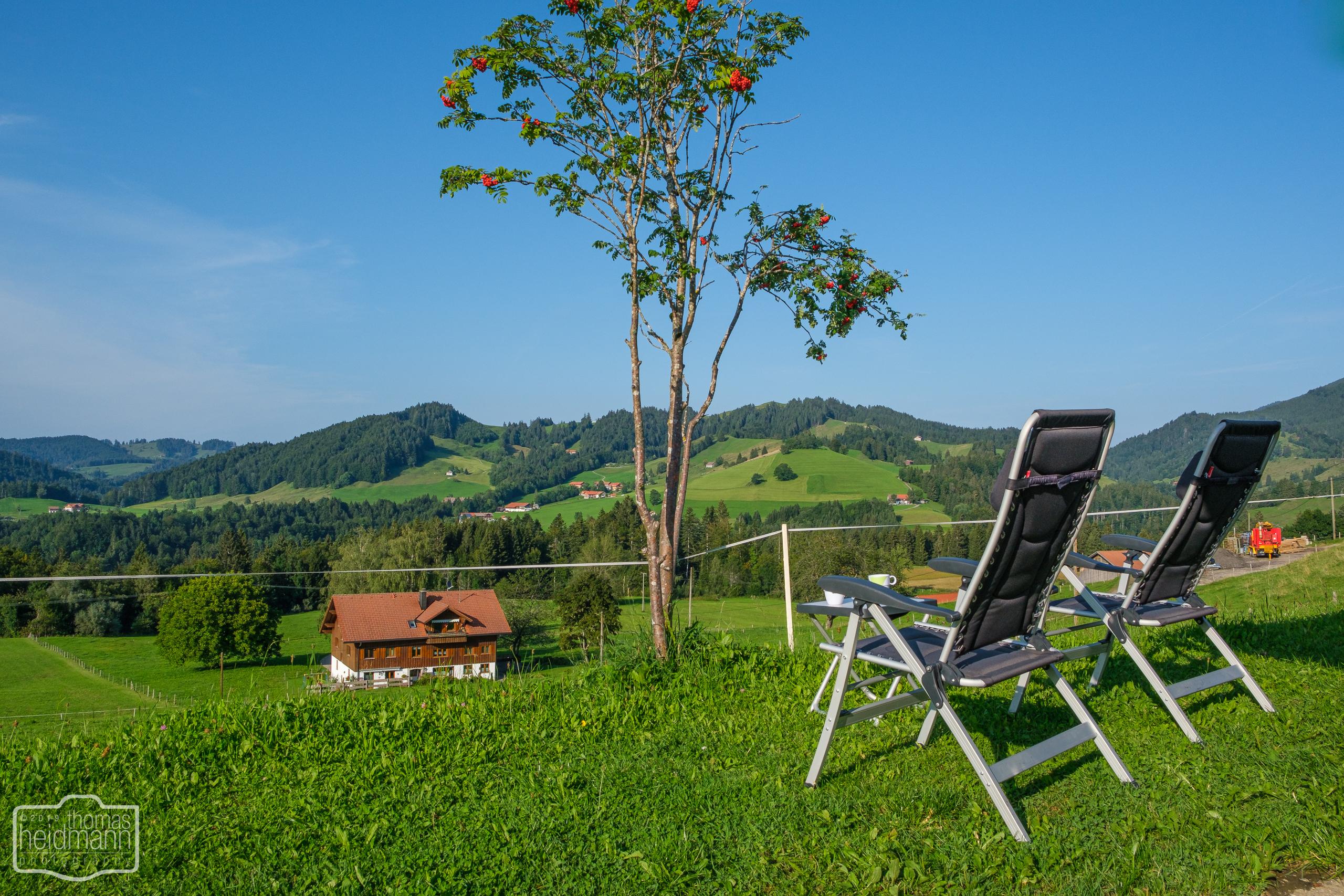 Ausblick vom Stellplatz in Oberstaufen OT Steibis