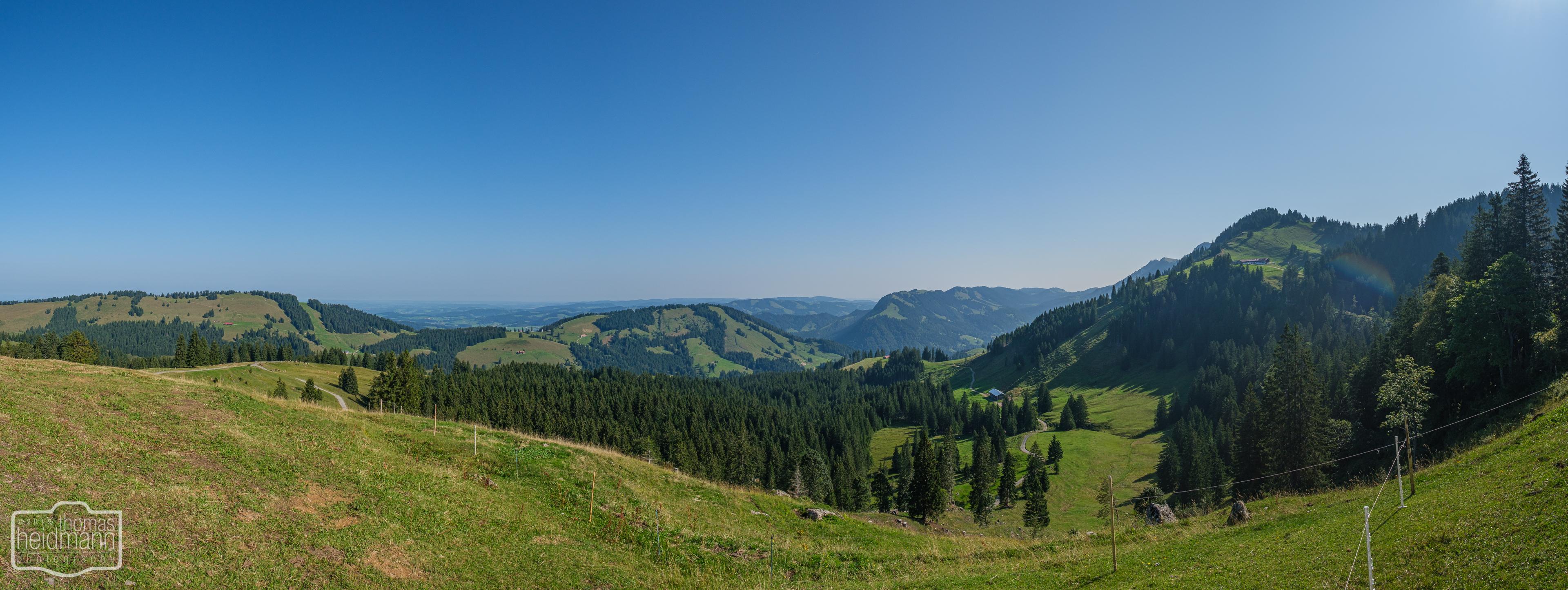 Wanderung auf dem Grat der Nagelfluhkette - Panoramablick