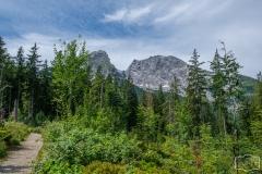 Wanderung zum Grünstein und zur Kuhrointalm - Blick auf den Watzmann