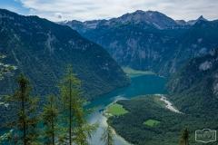 Wanderung zum Grünstein und zur Kuhrointalm - Blick auf den Königssee