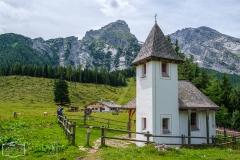 Wanderung zum Grünstein und zur Kuhrointalm - Kapelle bei der Kuhrointalm