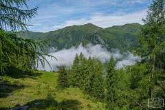 Gratwanderung - Die Sonne ist da, der Nebel noch im Tal