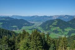 Wanderung auf die Hohe Salve - Blick ins Tal
