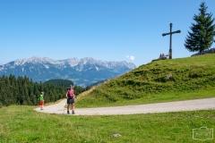 Wanderung auf die Hohe Salve - Wanderweg auf Forststrasse