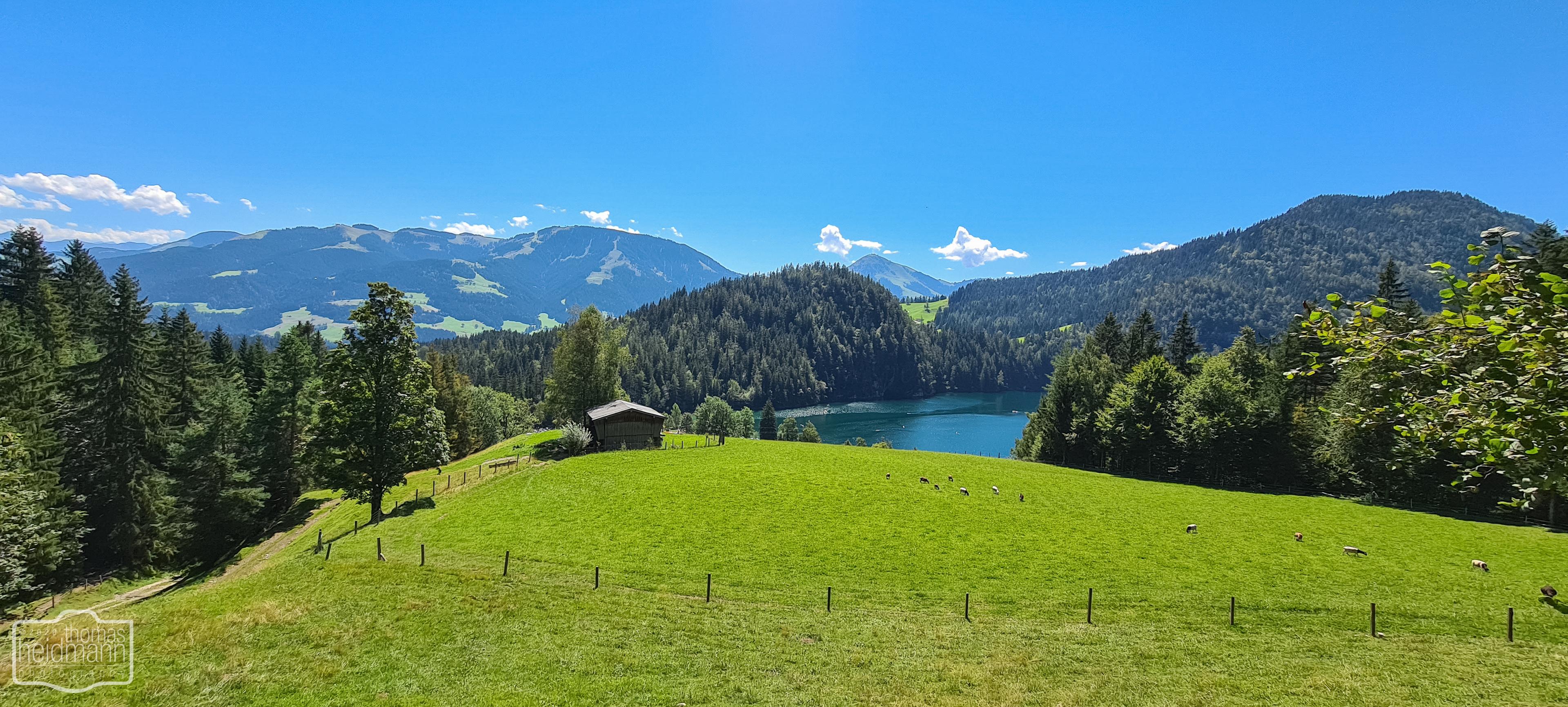 Blick auf den Hintersteiner See von oben