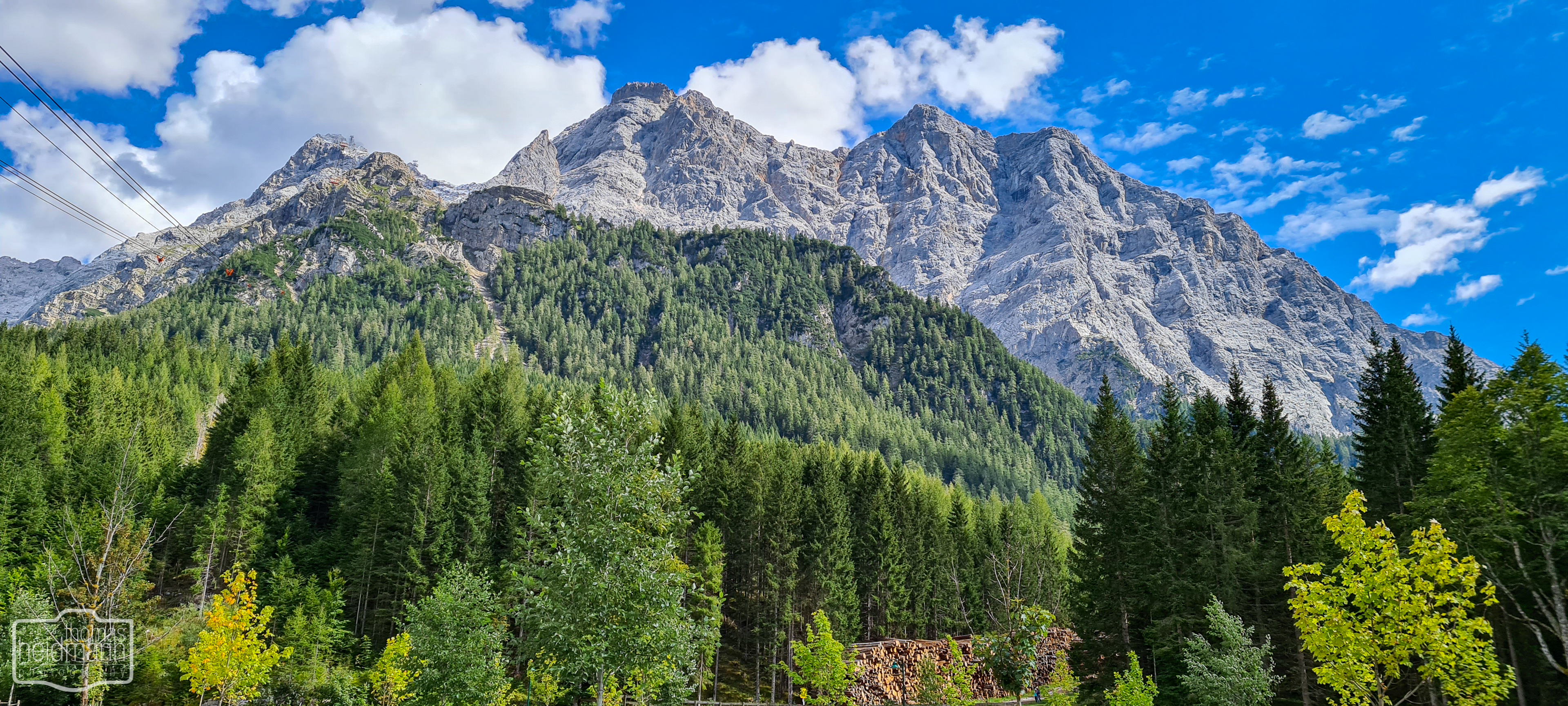 Zugspitze von Ehrwald aus gesehen