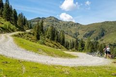 Mountainbiker beim Aufstieg zum Wildkogel