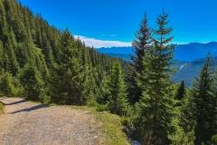 Steile Anstiege auf dem Weg zur Wettersteinhütte im Gaistal