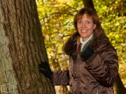 Xenia im Herbstwald