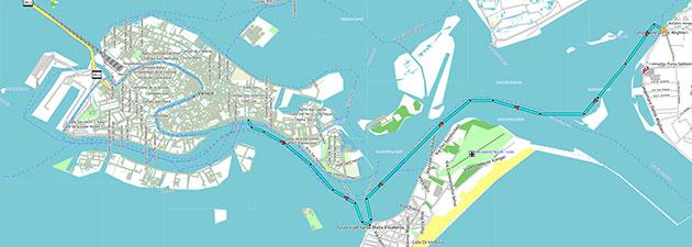 Vaporetti-Fahrt Punta Sabbioni-Venedig und zurück