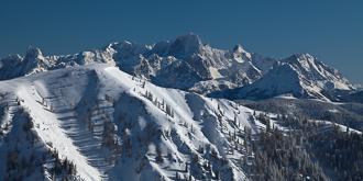 Winterliche Bergwelt.