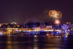 DOM-Feuerwerk & Hamburger Hafen