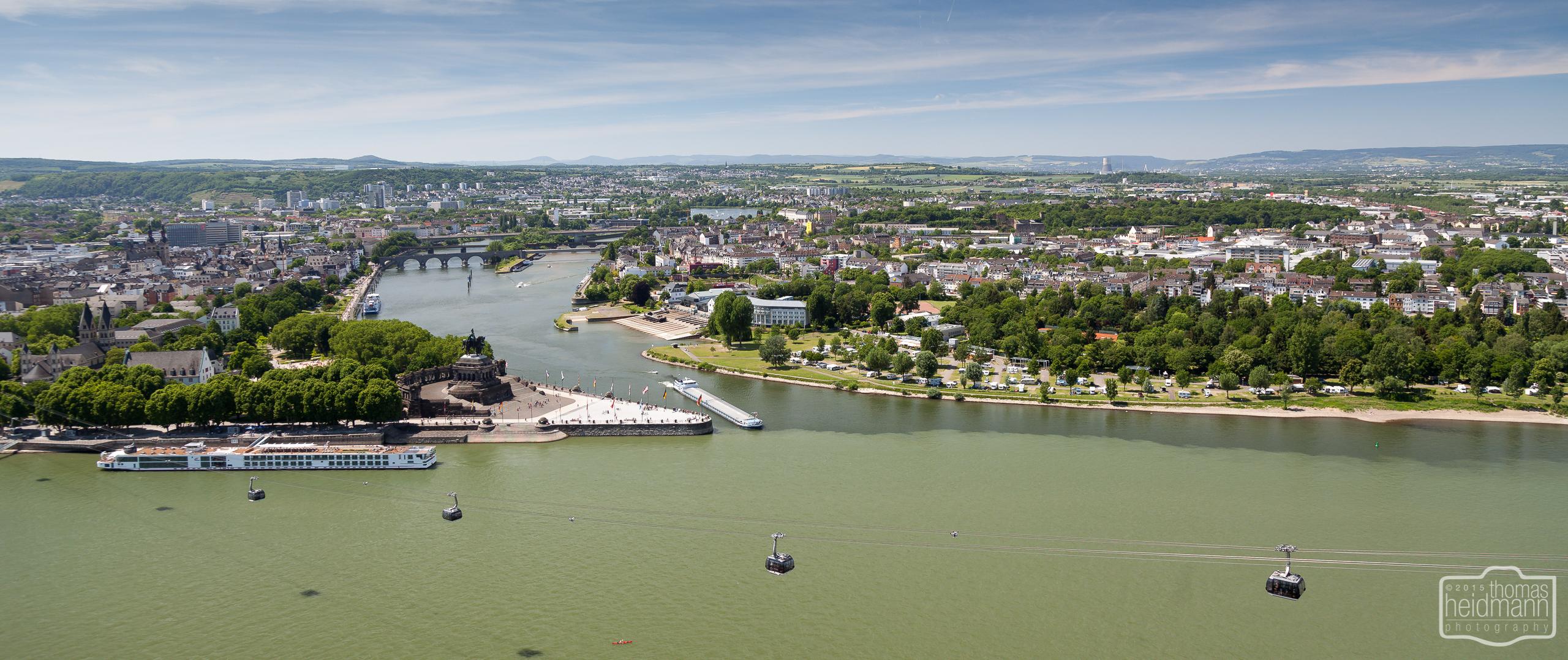 Das Deutsche Eck in Koblenz