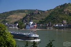 Burg Gutenfels und Burg Pfalzgrafenstein bei Kaub am Mittelrhein