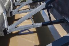 Schotten des Eidersperrwerk an der Nordsee