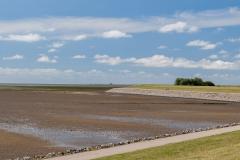Ebbe an der Nordseeküste bei Nordstrand