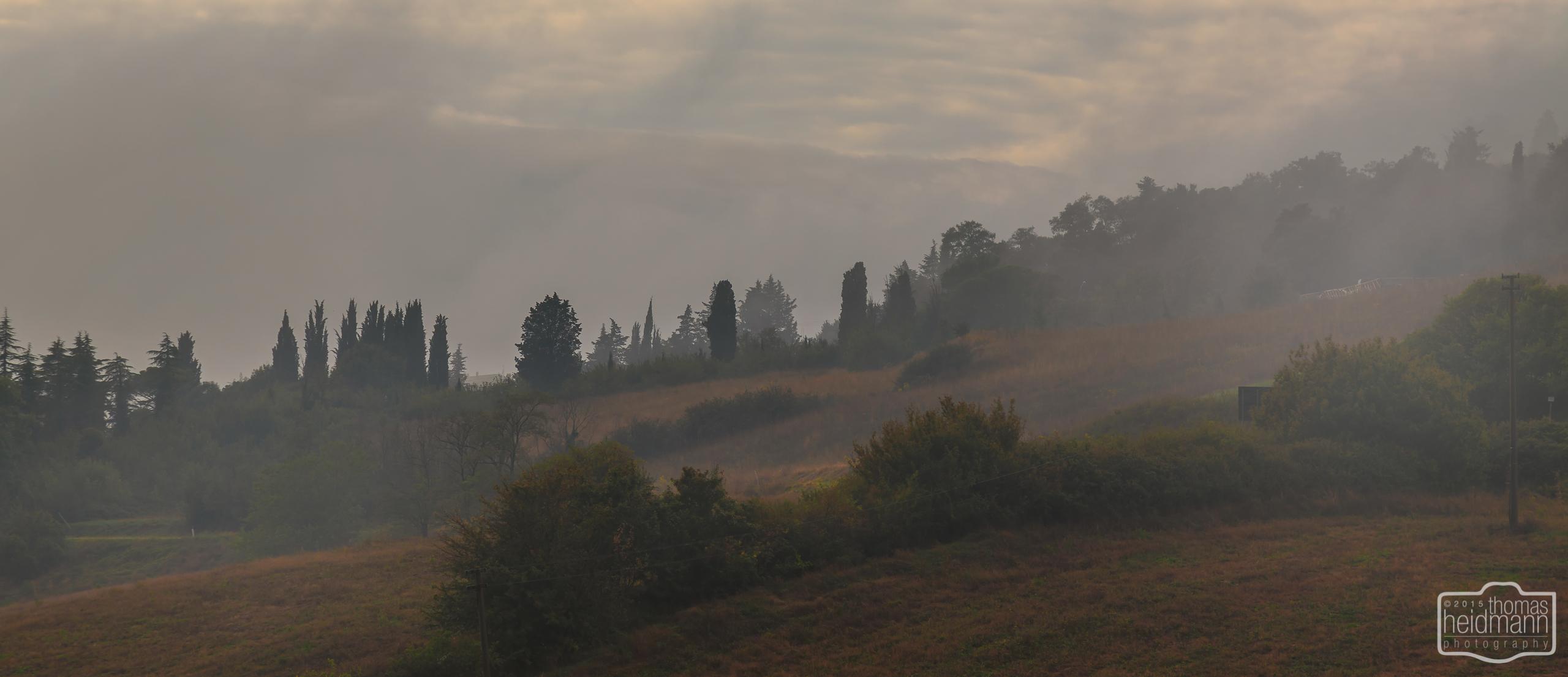 Gegend bei Radifocani (Süd-Toskana)