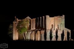 Klosterruine San Galgano bei Nacht (Toskana)